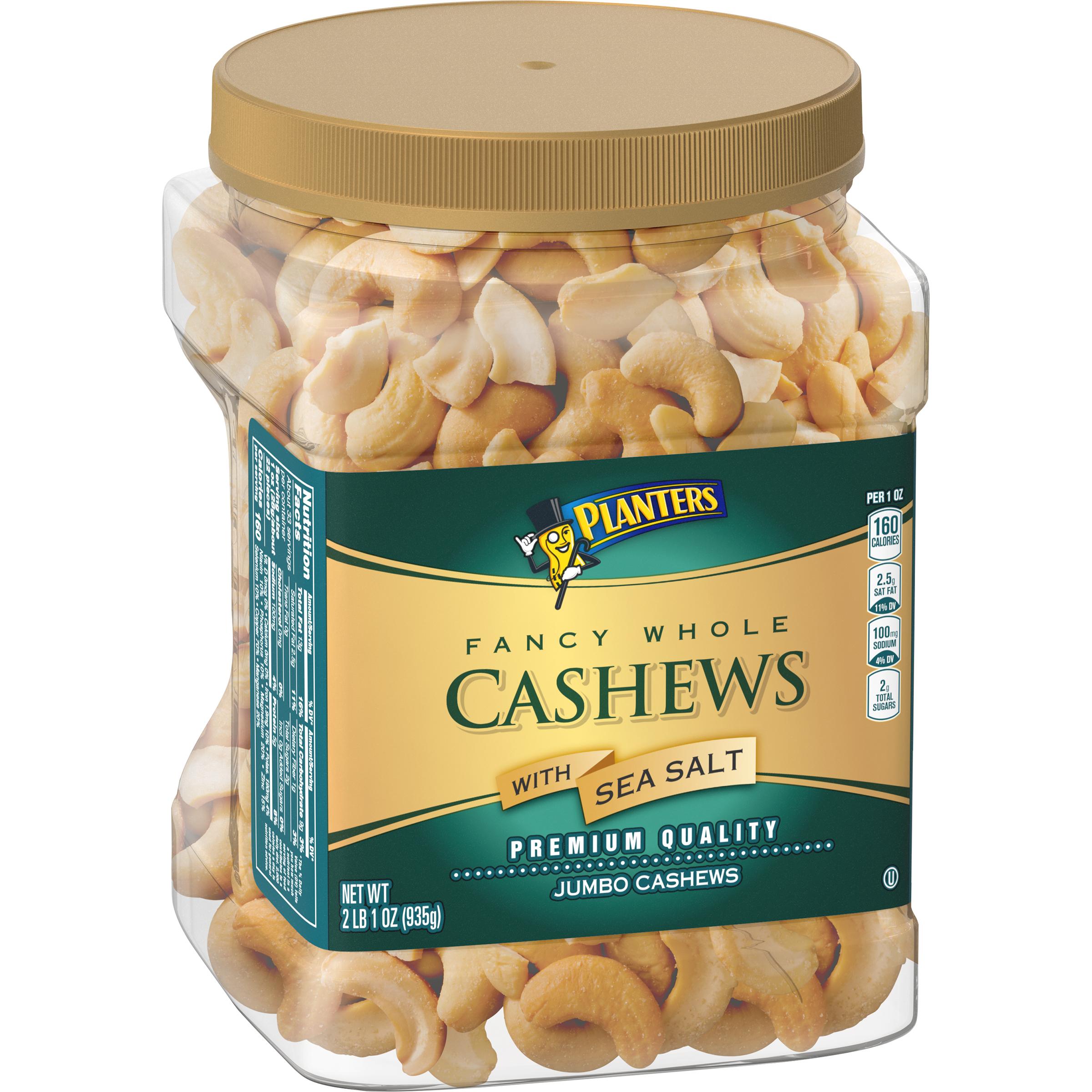 of planter salted bag ounce serve planters pack single itm cashews