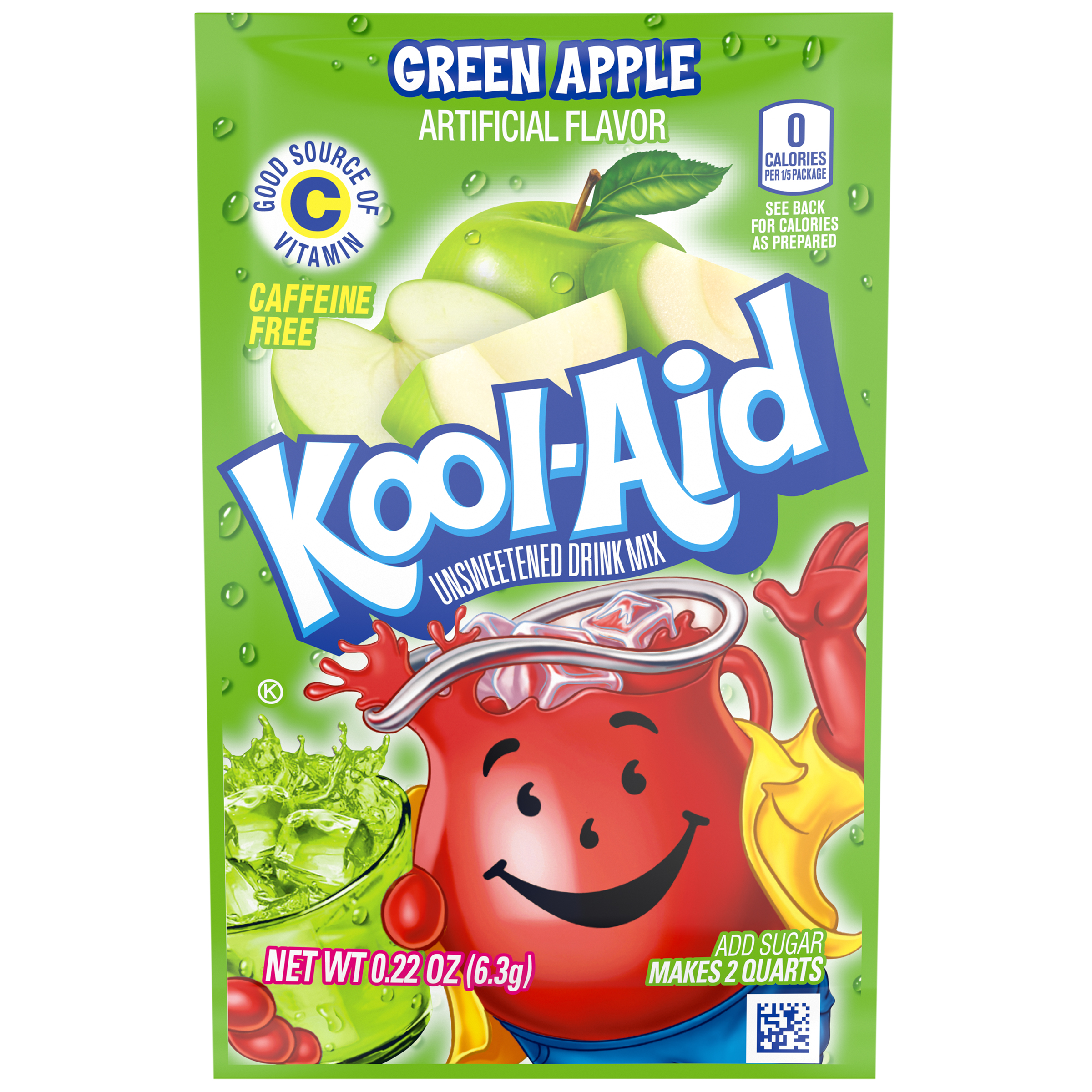Kool-Aid Green Apple Drink Mix 0.22 oz. Packet image