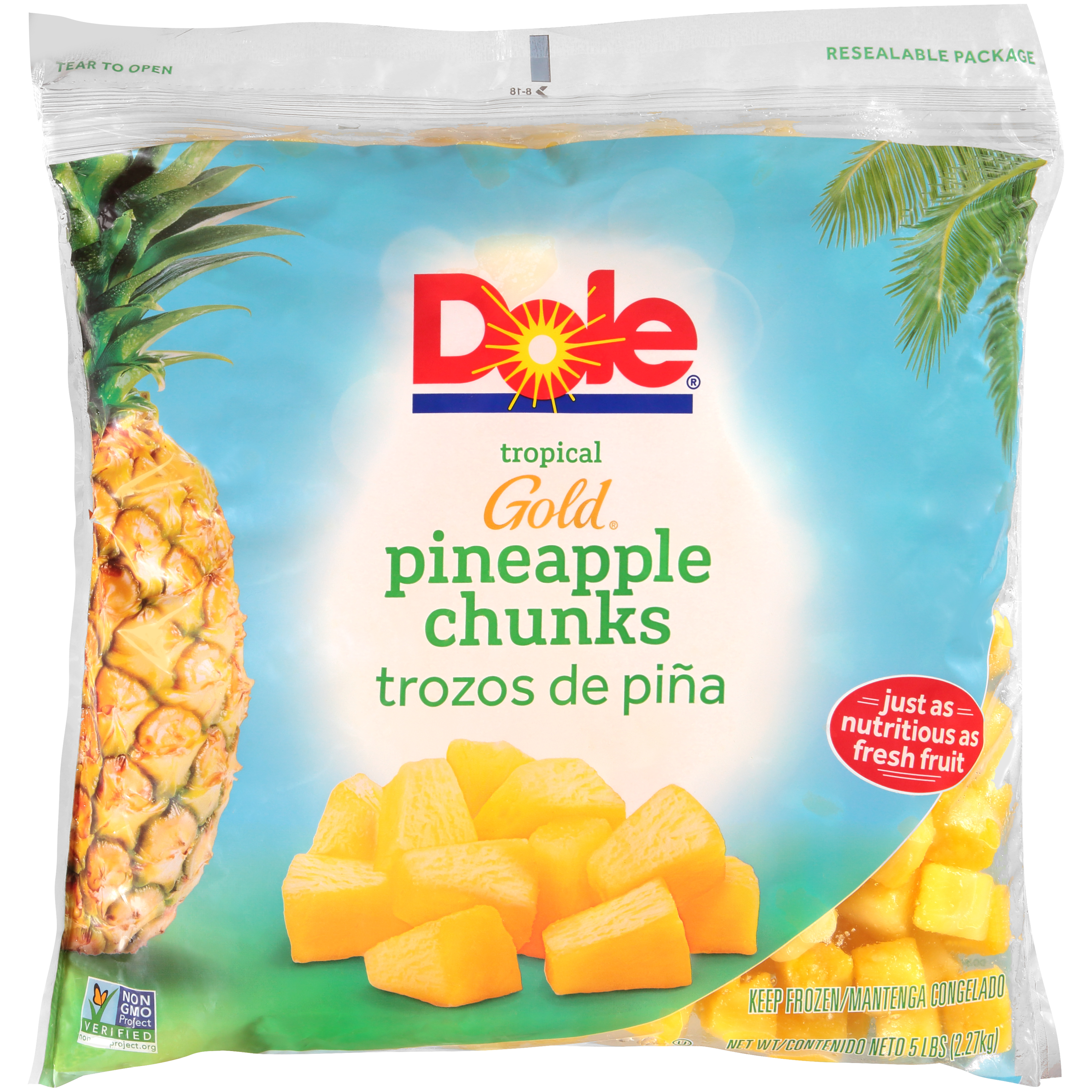 2/5# Pineapple, Chunks IQF