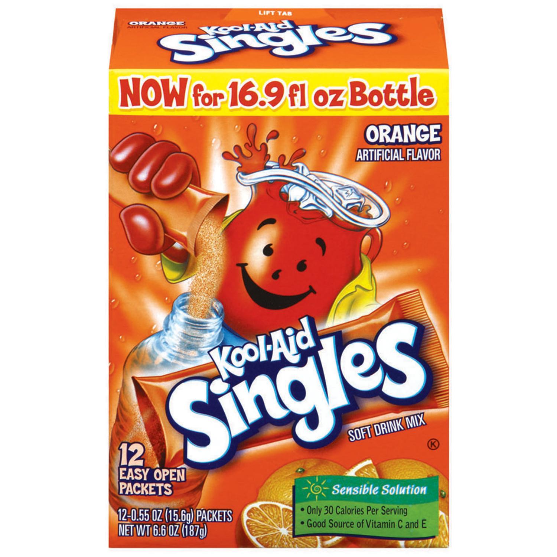 Kool-Aid Singles Orange 12 Ct Soft Drink Mix 6.6 Oz Box image