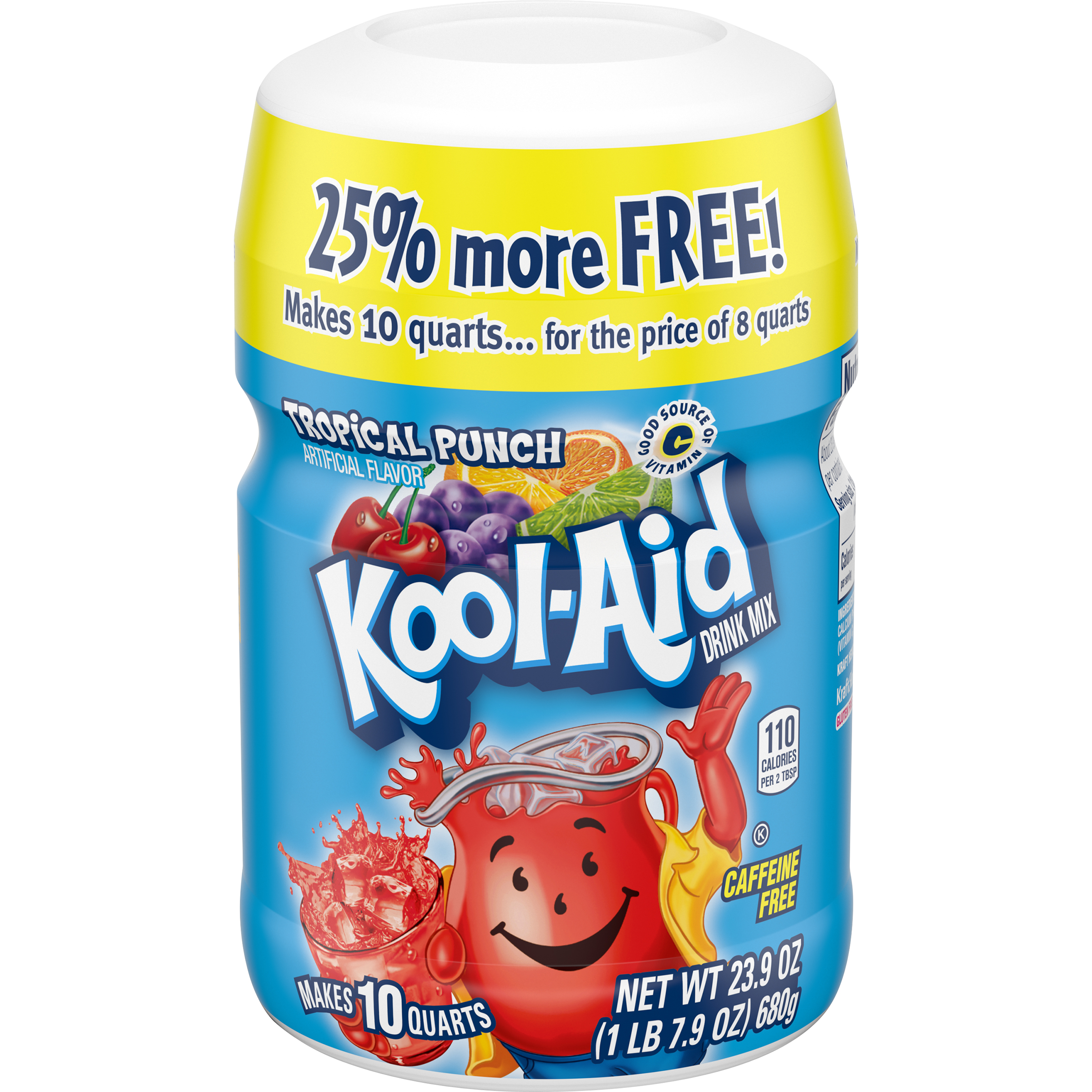 Kool-Aid Tropical Punch Drink Mix 23.9 oz. Canister image