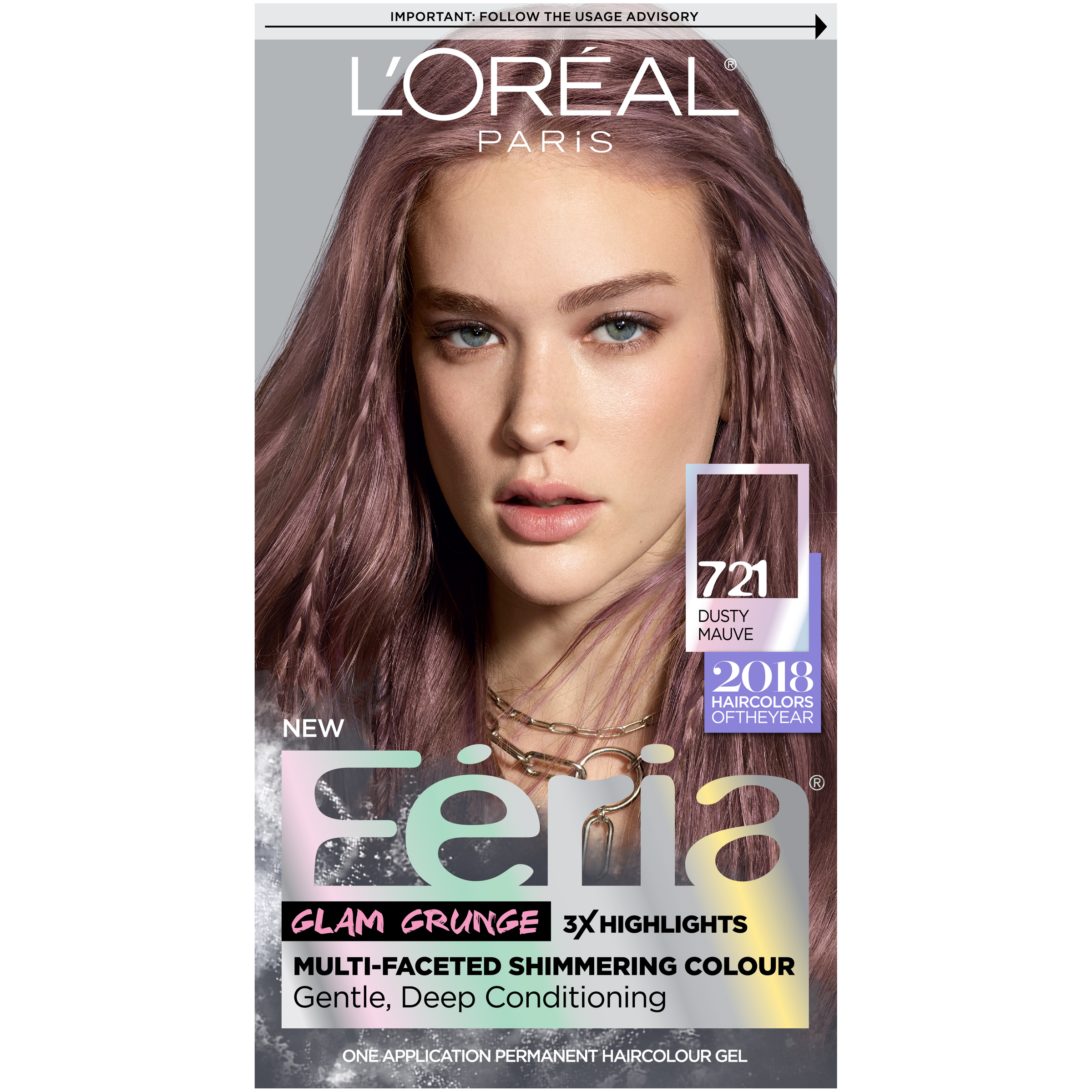Loral Paris Feria Permanent Hair Color 721 Dusty Mauve Ebay